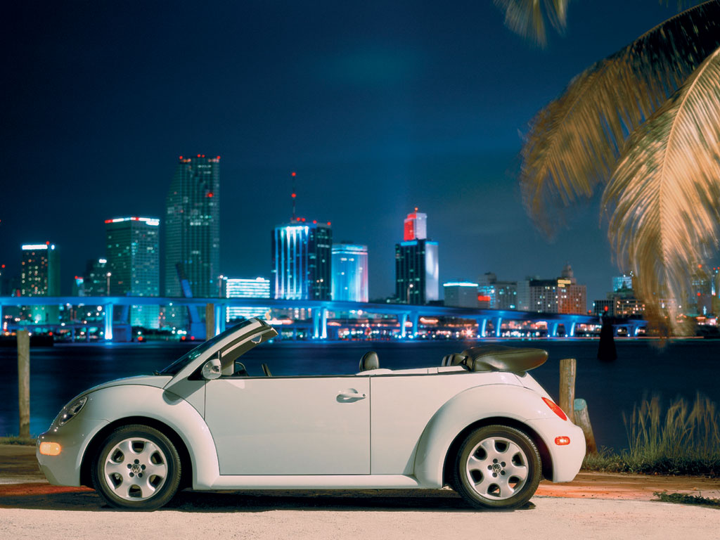 Volkswagen New Beetle convertible wallpaper free download 1024x768, скачать бесплатно картинки Volkswagen New Beetle convertible,